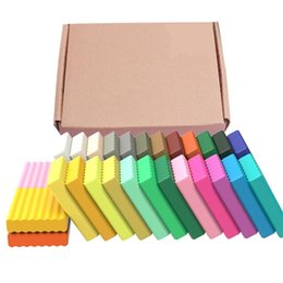 55Pcs DIY Polymer Clay 24 colors Polymer Clay Plasticine Safe Molding Craft Oven Baking Clay Blocks Birthday Gift Kids Education 201226 on Sale