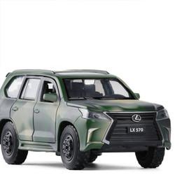 1/32 Lexus LX570 Simulation Toy Toy Toy ALLIAGE ALLIAGE RETOUR DES JOUEURS ENFANTS JOUEURS DE LICENCE DE LICENCE VÉHICULE MILITAIRE VÉHICULE DANS LA ROUE en Solde