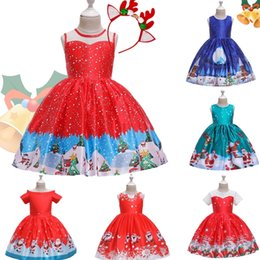 blue prom dresses for kids UK - New Year Costume Big Bow Kids Girl Wedding Kids Dresses For Girls Princess Party Pageant Formal Dress Prom Girls Christmas Dress