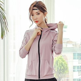 Wholesale athletics jacket for sale – winter Women Jacket Long Sleeve Quickly Dry Loose Hoodie Running Jogging Fitness Gym Leisure Athletic Jacket Sweatshirt Sportswear