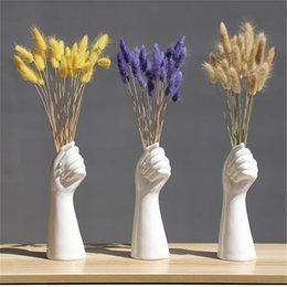 Северный стиль ручной вазы цветы современный домашний офис декор творческого цветочного состава гостиной орнамент керамики ваза на Распродаже
