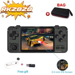 Discount game jacks Home Game RK2020 Game Retro Console Portable 3.5inch Jack IPS Screen Handheld Console Video player with Bag