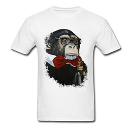 gorilla tshirt UK - sport Men White Fashion T-Shirts Back To Future Funny Gorilla Professor Print Modern Tshirt For Man Gentlemen Cotton Brand Tees