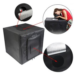 soft light box photography UK - Multifunctional 0.8m LED Light Soft Box Set Portable Photo Lighting Modifier Photography Accessory Softbox with 3 Backdrops1