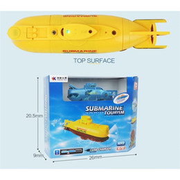 kids submarine toy Canada - LeadingStar Mini RC Submarine Ship 6CH High Speed Radio Remote Control Boat Model Electric Kids Toy Y200413