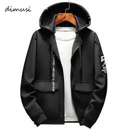 Wholesale anorak fashion resale online - DIMUSI Spring Autumn Mens Bomber Male Fashion Anorak Hip Hop Streetwear Jackets Men s Patchwork Windbreaker Coats XL C1018