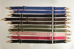 Försäljning 6 färger axelremmar för 3 styck set väskor kvinnor crossbody väska kanfas väska delar band rosa blak grön blå
