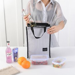 cool travel accessories NZ - Black Thermal Lunch Bag Portable Cooler Insulated Picnic Bento Tote Travel Fruit Drink Food Fresh Organizer Accessories Supplies Q1104