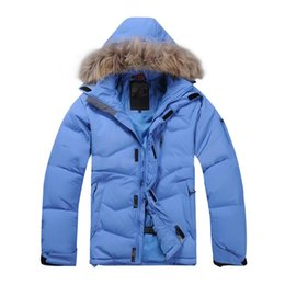 Wholesale mens raccoon fur coats for sale – warmest winter 2020 New Men Duck Down Jacket Winter Warm Down Coat Raccoon Fur Waterproof Hooded Jacket Big Mens Winter Coats Jackets