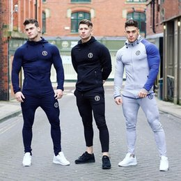 Fitness Sportswear Running Sports Suit Spring and Autumn Training Tight Muscle Men Tracksuits 2 Pcs Sets