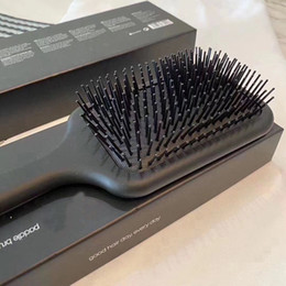 2021 Hot Brush Professional Paddle Comb Hair Brush for Hair Styling Ceramic Hair Straightener Brush by DHL on Sale