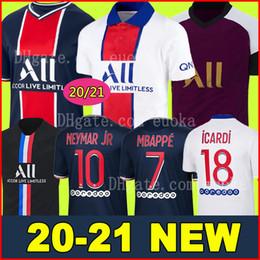 NEYMAR JR MBAPPE ICARDI JORDAN PSG 20 21 camisas de futebol 2020 2021 Paris saint germain camisa jersey Survetement futebol kit camisa de futebol mulheres camisa de futebol em Promoção