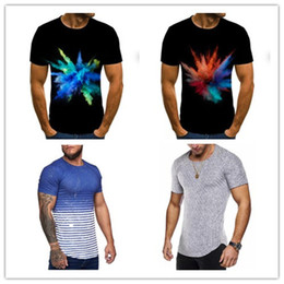 Wholesale black white plus clothes for sale – plus size Plus Size Mens Tshirts Short Sleeve Crew Neck Fashion Casual Clothing Loose Summer Pullover Men tshirts