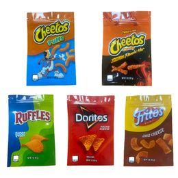 1oz sacos de microplaqueta Cheetos babados Doritos Fritos Flamin Queijo Quente Gummy Comestible Bags em Promoção