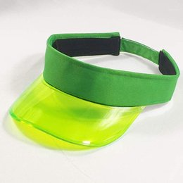 green plastic visors UK - Summer Plastic Visor Cap Tennis Beach Club Sun Visor Hat Women Men Blue Green White Pink Coffe Leopard Black1