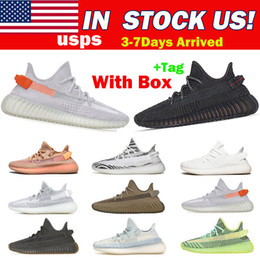 Top Quality Store And shiping From US Zebra Yeezel Running Shoes Yecheil Belgua Earth Static Cinder Cream White Man Women 36-48