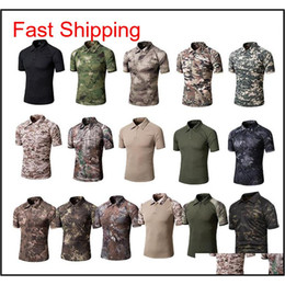 Outdoor Woodland Hunting Shooting Shirt Battle Dress Uniform Tactical Bdu Army Combat Coat Quick Dry Camouflage T-Shirt No05-108 0Cgir on Sale