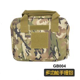 tactical bag ipad UK - Fans Outdoor Leisure Ipad Notebook Handbag Tactical Multi-functional Camouflage Pistol Bag