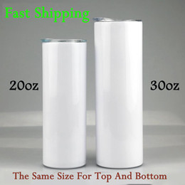 Christmas Sublimation Blanks Skinny Tumbler 20oz 30oz Stainless Steel Wine Straight Tumblers Insulated Coffee Mug With Straw Birthday Gift F on Sale