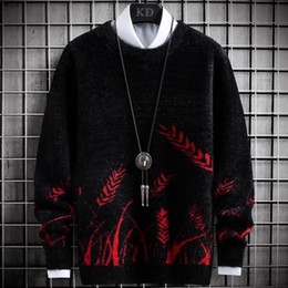 Wholesale mens white cashmere sweater online – oversize 2020 Winter New Cashmere Sweater Men Fashion Printed Thick Pullover Men Soft Warm Pull Homme Top Quality Mens Christmas Sweaters