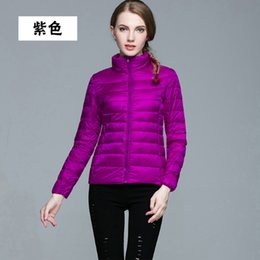 Wholesale ladies short padded jackets for sale – winter Black Friday Fashion Ladies White red Wine khaki red Down Short Design Coat Winter Cotton padded Jacket Women Slim Solid Zipper Outerwear