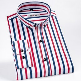smart shirts men UK - New Arrival Brand Men's Shirts Long Sleeve Striped Mans Smart Casual Shirt Business Male Turn-down Collar Dress Shirts LJ200928