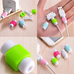 Wholesale data covers for sale - Group buy Data Line Protection Sheath Silica Gel Mobile Phone Headphone Cable Smart Cover Green Blue Charging Lines Protective Sheaths jd L1
