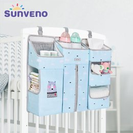 designer diapers for babies Australia - SUNVENO Portable Baby Crib Organizer Bed Hanging Bag for Baby Essentials Diaper Storage Cradle Bag Bedding Set 201210