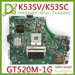 Discount laptop motherboard samsung KEFU K53SV Laptop Motherboard K53SV REV 3.0 3.1 Fit For ASUS K53SC A53S X53S P53S K53SJ K53SC Notebook