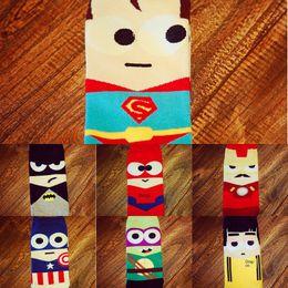 Wholesale cartoon superheroes for sale – custom Men s superhero Boat boat Socks cartoon straight socks men s personality creativity pure cotton comfortable hot sale b5S9