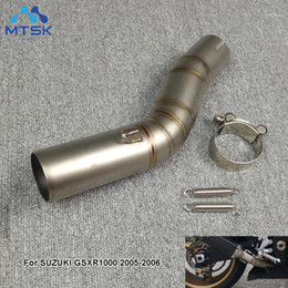 Wholesale GSXR1000 High Quality Motorcycle Exhaust Middle pipe link pipe For GSXR1000 GSX R1000 GSXR 1000 Link1