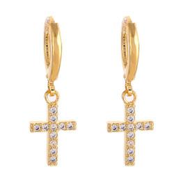 Cross Dangle Earrings Religious Jesus Stone Earrings Jewelry Crucifix Christian on Sale