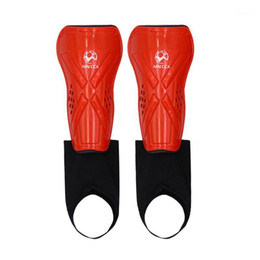 Wholesale sport karate resale online - Children Football Shin Guards Professional Sports Kids Soccer Ankle Leg Protectors Calf Socks Belt Karate Training Accessories1