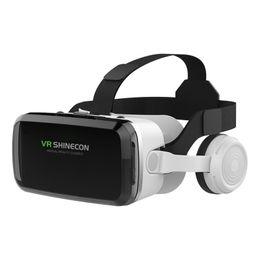Großhandel VR-Headsets, verbesserte Version von VR 3D-Brillen, Virtual Reality-Gläser mit Bluttooth-Kopfhörern, kompatibel mit iPhone- und Android-Telefonen
