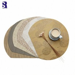 table place settings Australia - SunnyRain Semicircular Table Setting Placemat Waterproof Place Mats Insulation Mat SRCI#