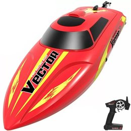 Wholesale VOLANTEXRC Vector30 2.4GHz 30KM H High Speed Waterproof RC Boat with Auto Roll Back and Reverse Function - RTR Red