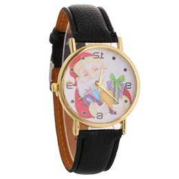 watches for women designer Canada - Taoup Merry Claus Women Wrist Watch Christmas Decoration Home Noel Gifts for Kids Navidad Santa
