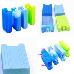 Boîte à glace Répétable Utilisation 400 ml Préservation à froid Fresh Garder Case Nourriture Boites de rangement Bleu Cool Factory Vente directe 2 5JS P1 en Solde