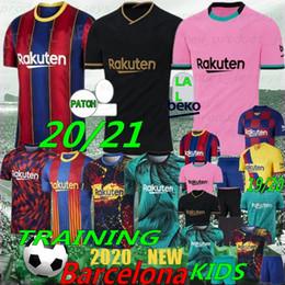 Tailandês 20/21 Messi 6 Xavi Jersey 10 Messi 17 Grisezmann Camisetas de Futbol Ansu Fati Retro de Jong Maillots de Futebol Camisa Men Kids em Promoção