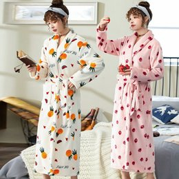 Wholesale brides robes resale online - 5XL XL Pajamas Women Winter Flannel Robe Plus Large Size Loungewear Female Big Bride Bathrobe Print NightDress Velvet Nightie