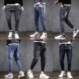 Wholesale new casual look men for sale – custom VA3eQ New style Harlem pants men s small leg and jeans casual fashion good version versatile slim trend Korean looking lower body jeans JqV2m