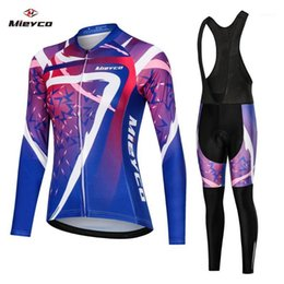 2020 Women's Spring Autumn cycling clothing Long sleeve cycling Jersey and bib pants Breathable Sun Bike Clothing MTB Jersey set1 on Sale