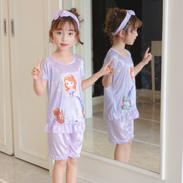 Wholesale womens matching pajamas for sale - Group buy Family Pajamas Outfits Spring Summer Boys Girls Home Wear Womens Childrens Cotton Parent child Sleepwear Matching Underwear