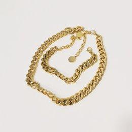 Toptan satış Patlama Klasik Tasarımcı Takı Lady 14 K Altın Moda Kolye Bilezik Yüksek Kaliteli Saf Bakır Malzeme