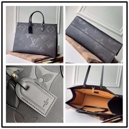OnTheGo M44921 M44925 2020 NOVO couro genuíno torção no ombro de compras bolsa mensageiro bolsos saco de Totes Cosmetic em Promoção