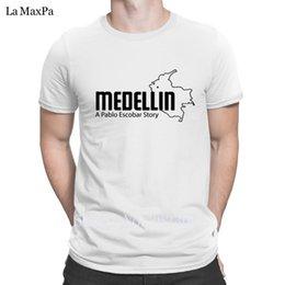 Wholesale create t shirts online – design Create New Style T Shirt men Medellin Pablo Escobar T Shirts Novelty Men Normal Tshirt For Men Crew Neck HipHop Tops