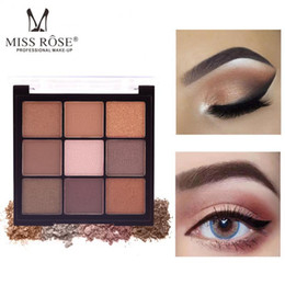 green eyes color eyeshadow UK - 9 Colors Pearly Matte Earth Color Eyeshadow Palette Waterproof And Long-lasting Non-smudge Eye Shadow Eye Makeup
