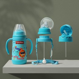 apple shaped bottle NZ - Fisher thermos function wide caliber pipette baby Cup pacifier three one bottle multi use two