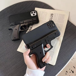 Wholesale gun cases resale online - Luxury D Funny Gun Phone Case for iphone Pro Max X Plus Xr Xs max Silicone pistol Toy Phone Cover