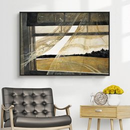 world famous art paintings Australia - Window sea breeze Andrew wise world famous painting minority art decorative painting study mural restaurant hanging painting